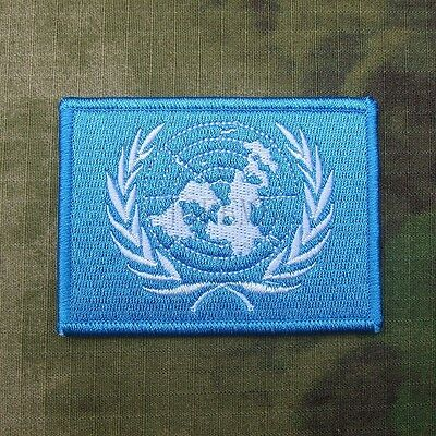 The United Nations (U.N.) flag Morale Tactical Embroidery Patch B2151