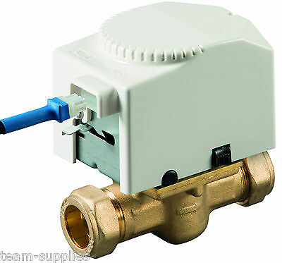 TEAMS 22mm 2 TWO PORT MOTORISED ZONE VALVE NORMALLY CLOSED DETACHABLE HEAD