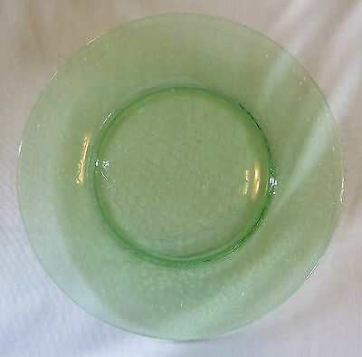 """L E Smith By Cracky Vaseline Green 8"""" Luncheon/Lunch Plate(s)"""