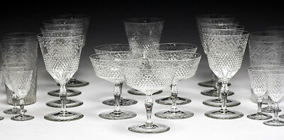 32pc Kosta Cut Crystal Goblets, assorted - Wine, champagne, tumbler, sherry