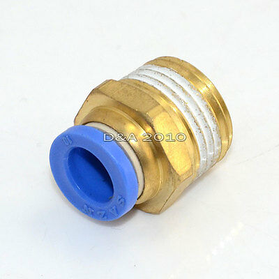 "Male 1/2"" - 10mm Straight Push in Fitting Pneumatic Push to Connect Air"