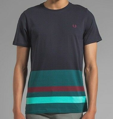 Fred Perry Shirt Men (M3306) Engineered Hem Stripe 100% Authentic Size XL New