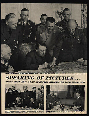 1948 HITLER & GORING NAZI on WWII D-DAY VINTAGE MAGAZINE 3 Page ARTICLE & PHOTOS