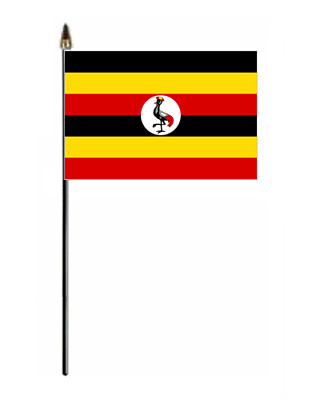 Uganda Country Hand Flag - small