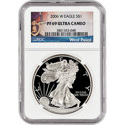 2006-W American Silver Eagle Proof - NGC PF69 UCAM - West Point Label