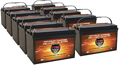 10  Slr125 Solar Agm Battery Hi Capacity Maint Free Vmax Solar Battery