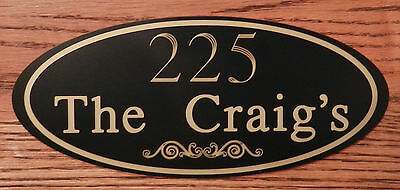 Custom Engraved Personalized House # & Family Name Address Sign FREE SHIPPING