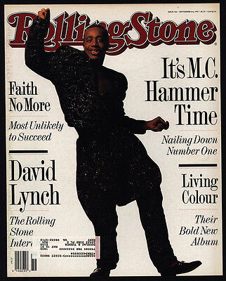 1990 ROLLING STONE Vintage Magazine *COVER ONLY* - M.C. HAMMER