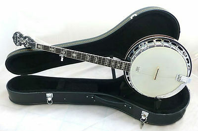 Rally 5 String banjo,Beautiful inlaid neck,curl maple resonator DBJ-075