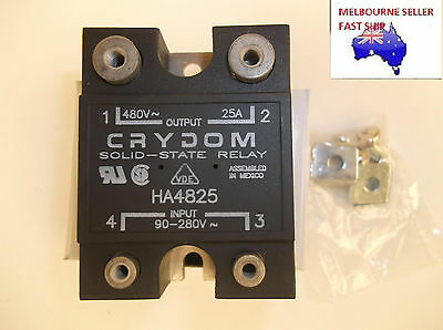 Crydom 25A Solid State Relay Ha4825  90-280Vac Input 48-480Vac Output