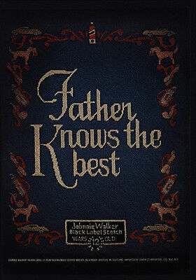 1975 JOHNNIE WALKER Black Label Scotch - Father Knows The Best - VINTAGE AD