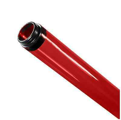 Red Fluorescent Tube Guard T8 4 ft. Foot 48 in. Inches with End Caps 23677