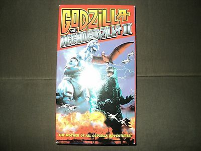 Godzilla Vhs Lot Mechagodzilla 2 The Sea Monster Biollante Great Shape