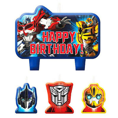 Transformers Party Supplies Candle Mini Moulded Pack Of 4