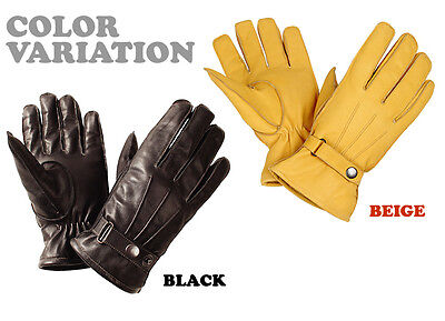 Motorcycle Leather Winter Gloves A Grade Genuine Bike Leather Warm Winter Gloves