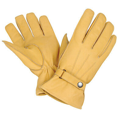 New Motorbike A Grade Leather Gloves Motorbike Leather Warm Winter Gloves