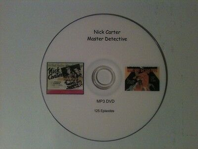 Old Time Radio Nick Carter, Master  Detective 125 Episodes in MP3 on DVD