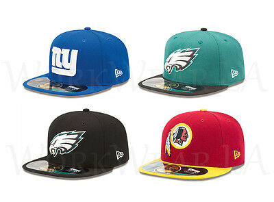 New Era 5950 NFC East OnField Cap NFL Fitted Hat Giants Eagles Redskins National