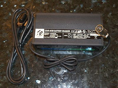 New High Power HP8204B 24V 4A Lead-Acid Battery Charger incl. 3-Pin Power Cord