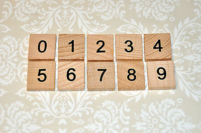 Choose your OWN wooden scrabble tile number numeral, scrapbooking, wedding prop