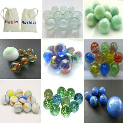 10 Glass Marbles Various Designs 16mm 🔴🔵Traditional Game Play Inc Shooter Sets