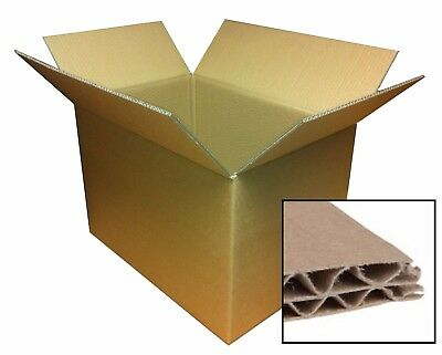 DOUBLE WALL - Strong Heavy Duty Removal Cardboard Boxes Cartons- Various Sizes