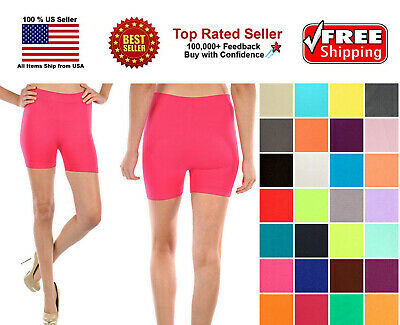 Womens Stretch Seamless Casual Spin Bike Shorts Cycling Exercise Yoga Workout