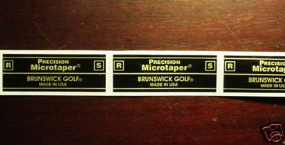 18 Precision Microtaper R/S Golf shaft labels Brand New