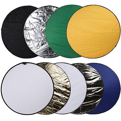 """Professional 110cm 43"""" 9 in1 Light Multi Collapsible Photo Reflector Board Disc"""