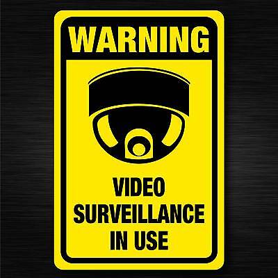 Video Surveillance in use sign quality 7 year water & fade proof vinyl cctv