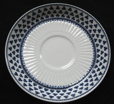 Adams Replacement Saucer White Blue Clover Shamrock Brentwood English Ironstone