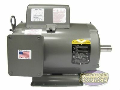 7.5HP Single Phase Baldor Electric Compressor Motor 215T Frame # L1510T 230 Volt