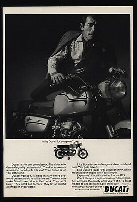 1966 DUCATI MONZA JUNIOR Motorcycle - Thoroughbred Motorcycle Italy - VINTAGE AD