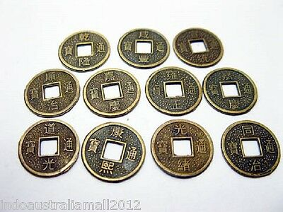 50 Pcs Chinese  Feng Shui Fortune Auspicious Coins/I Ching/ 14mm(FS-CO24)