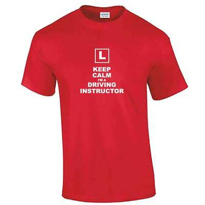Keep Calm I'm A Driving Instructor TShirt - Mens Dad Learner Driver Teacher Gift