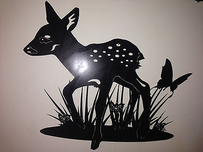 Fawn Sign outside or indoors Deer Metal Art
