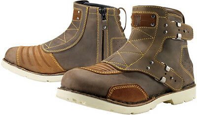 *Fast Shipping* Womens Icon 1000 El Bajo Motorcycle Boots Apparel (Brown)