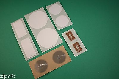 10 mixed Clear PET & White PVC NFC Tags Stickers NXP NTAG213 Android Windows