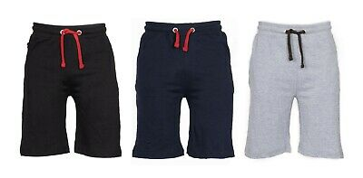 Mens Plain GYM Jersey Summer Shorts Light weight Baggy Zip Pockets Colored Cord