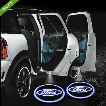 2x Car Logo Door LED Laser Ghost Shadow Welcome Projector Light Lamp For Ford