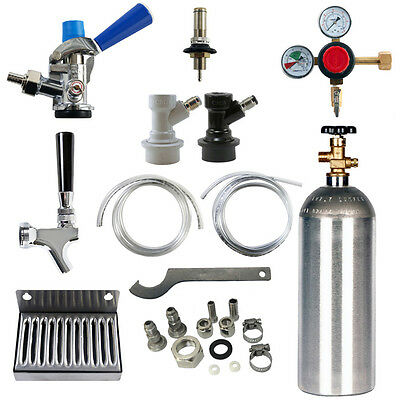 Kegerator Conversion Kit: From Ball Lock To Sankey Kegs with CO2 Cylinder