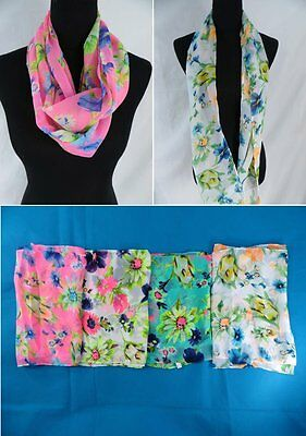 US SELLER-$3.15/p lot of 12 wholesale floral infinity scarf