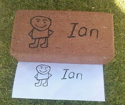 Fundraising bricks pavers with name engraved on it