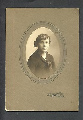 Photograph - c1920's photo of a Young Lady Mounted On Card