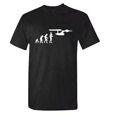 Star Trek Evolution TShirt - Mens StarTrek Spock Captain Kirk DVD SYFY Top Gift
