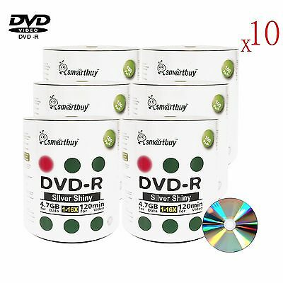 6000 Pack Smartbuy DVD-R 16X 4.7GB Blank Recordable Disc (Shiny Silver Top)