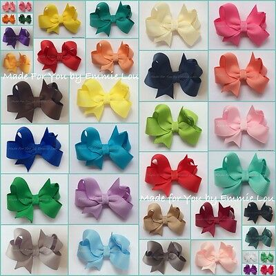 Baby/Girls Handmade  2 inch 3 inch Butterfly Hair Bow Clip bobble **40 COLOURS**