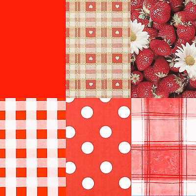 Red Tablecloth PVC Wipeclean Vinyl Tablecloth  Round, Square, or Rectangle