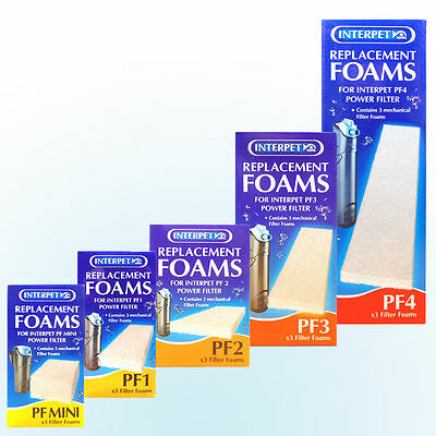 Interpet Pf Filter Foam Packs For Pf Mini, Pf1, Pf2, Pf3, Pf4