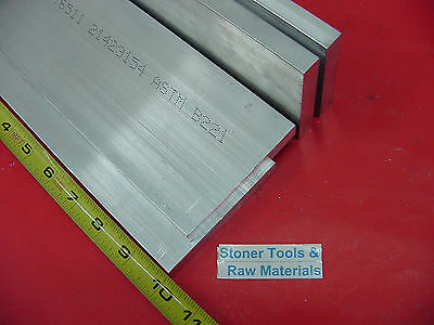 "4 Pieces 1/2"" X 4"" ALUMINUM 6061 RECTANGLE BAR 10"" long T651 Extruded Mill Stock"